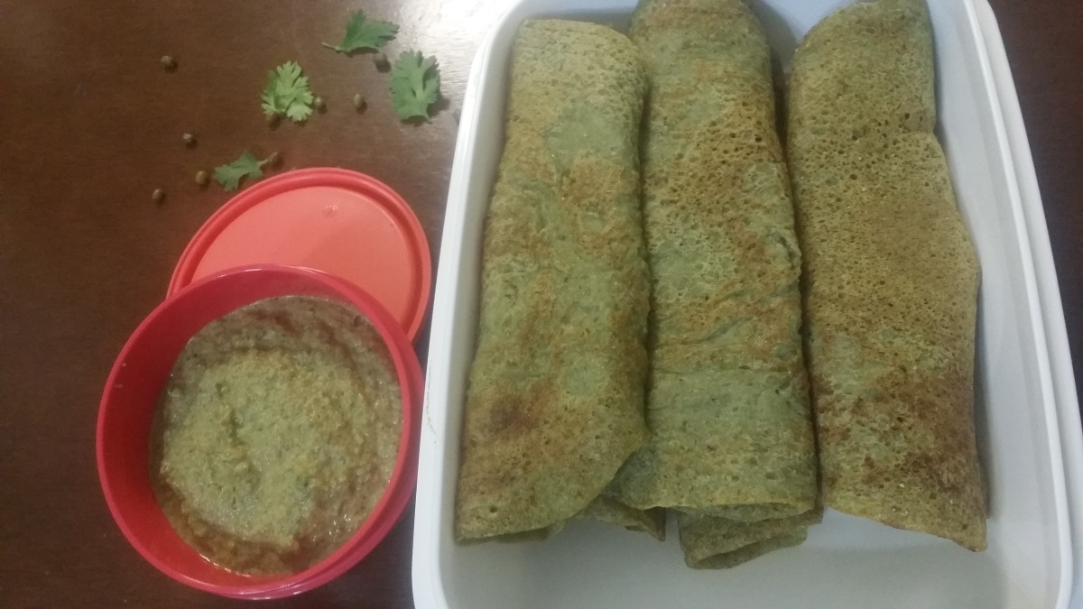 Savoury Green Gram Dosas Recipe